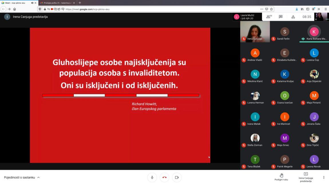 Studentima u Varaždinu održano predavanje o pristupu i komunikaciji sa gluhoslijepim osobama!