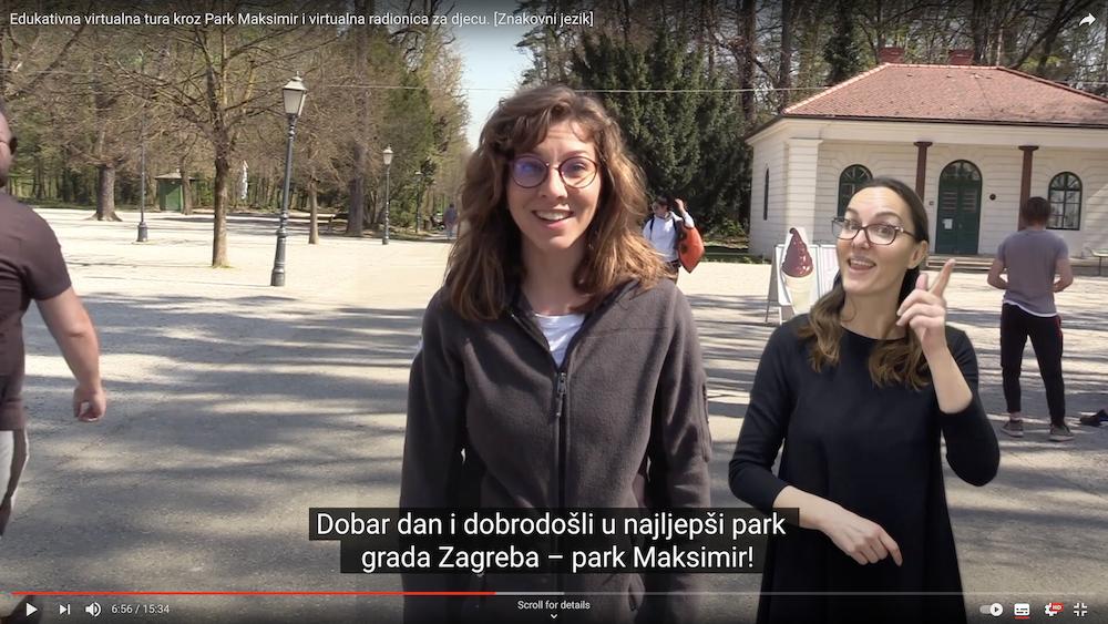 Virtualna edukativna tura kroz Park Maksimir i virtualna radionica za djecu